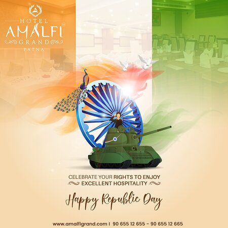This #republicday celebrate the rights to enjoy excellent hospitality with Hotel Amalfi Grand. #HappyRepublicDay