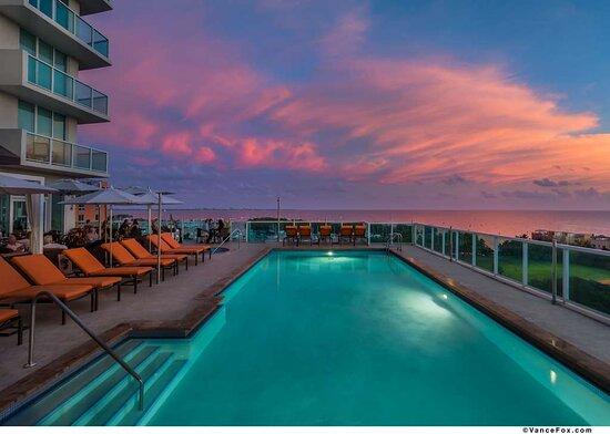 Pool Deck Sunset