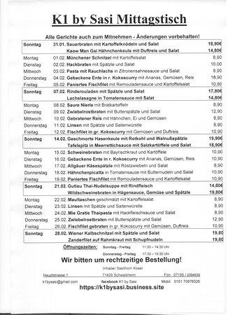 Schwaikheim, Germany: Mittagstisch Februar 2021