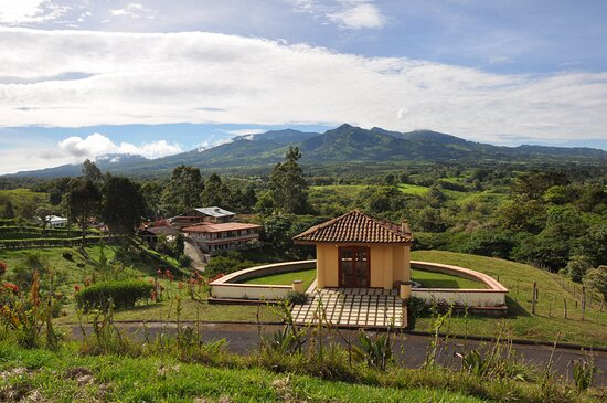 View from our Meditation Chapel and the Irazu volcano in the background