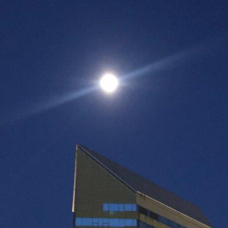 タワーと月