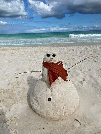 Love it!!!  Sandman at Secrets Maroma! Merry Christmas!!!