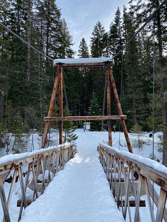 On the bridge crossing the Lochsa River