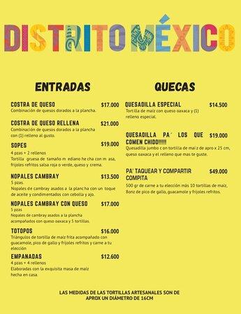 Nuestro menú de excelente calidad y variedad 100% mexicana