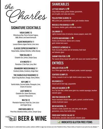 Reading, MA: Beautifully selected menu