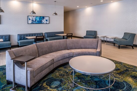 Relax in our spacious lobby with ample seating.