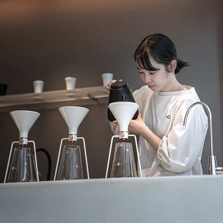 CHAMI Hand Drip (pour-over) coffee. We serve one by one.