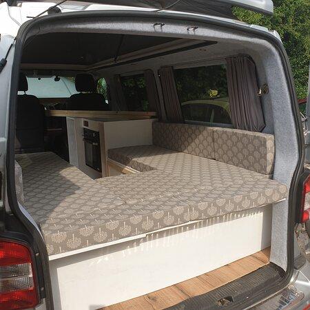 Custom cushion covers for a camper van conversion
