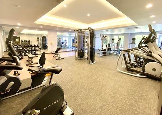 Newly renovated gym
