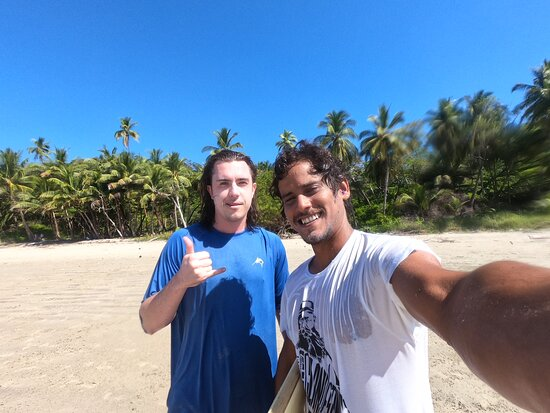 Go big or go home! Surf lessons, Santa Teresa, Costa Rica: Richard is a great guy and even better surf instructor