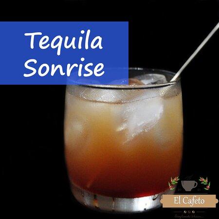 Coctel tequila sonrise