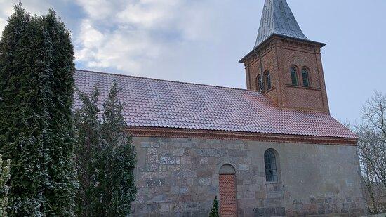Trige, Dinamarca: Kirken set mod nord