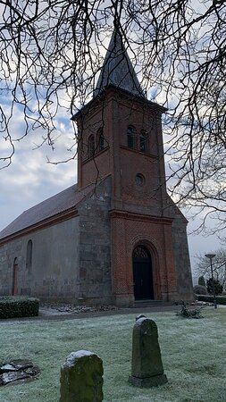 Trige, Dinamarca: Kirken set mod vest
