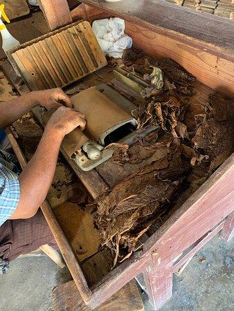 Fabrique de tabac vue lors de l'excursion Safari