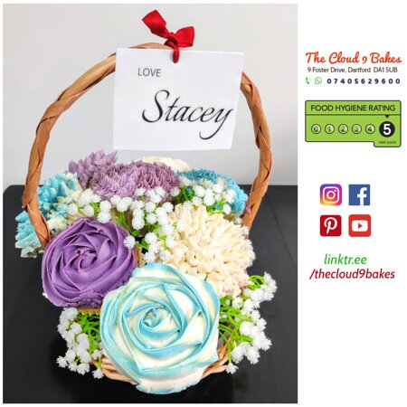 Cupcake Bouquet Basket