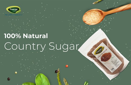 India: Country Sugar - Country Sugar, The less processed Natural Sugar extracted from rich sugarcane  And also some of the highlighted health benefits of Country Sugar are ▪️Rich in Calcium ▪️Stress Reliever ▪️No more High Blood Pressure ▪️No more Insomnia ▪️Enhances our memory ▪️Ensure better Digestion  It is safe to say Country Sugar is the best natural alternative for artificial sugar.  https://www.thanjainatural.com/country-sugar
