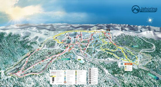 At any given time, the perfectly organized trails are connected by modern ski lifts for transport of skiers and boarders, with a total capacity of about 17,000 skiers per hour. Jahorina skiers can choose to ski on light, medium and cross-country trails that are tailored for more experienced and skilful skiers. 46 km of trails are covered by one cabin gondola, three six-seater cable cars, one two-seater and three ski lifts.  https://www.oc-jahorina.com/en/