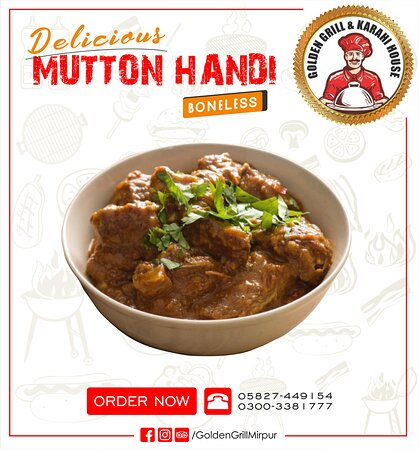 Golden Grill & Karahi House Mirpur  Special Mutton Handi Available