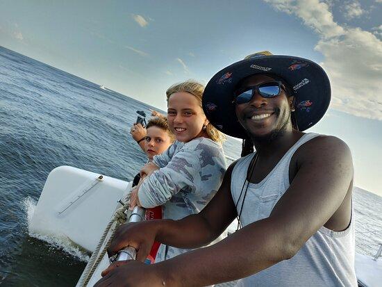 Fort Walton Beach, FL: Our first mate Daniel always has a smile!