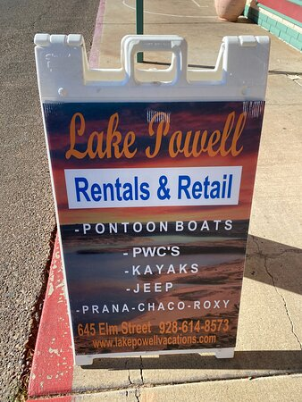 Lake Powell Rentals and Retail, your one stop shop!!