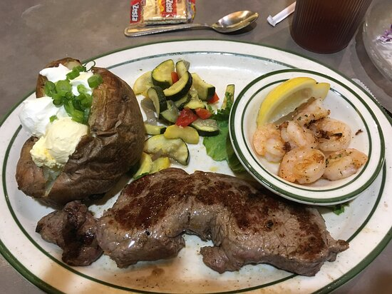 Steak and shrimp at Norm's.