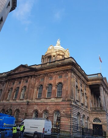 Great architecture along pedestrianised Castle Street