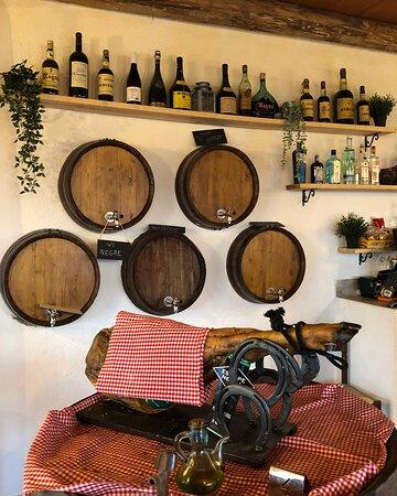 Jamón ibérico y vino
