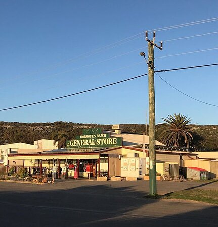 Horrocks, ออสเตรเลีย: the general store... fuel, ice, bait, bottleshop, coffee, fish & chips, newspapers, fresh bread baked daily, delicious burgers, non dairy and vegan options available.