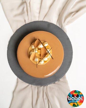Dolce Vita Un Sabayon ultra léger au beurre de cacahuète, se cachent à l'intérieur des cacahuètes crispy et le tout texturé d'un croquant cacahuète. La Gourmandise à l'état pur !!!