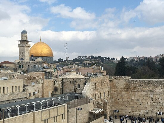 Temple Mount view from the Western Wall