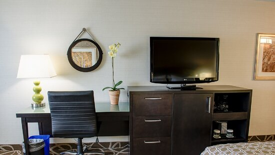 Smart Desk with desktop outlets and HDMI and Internet connections