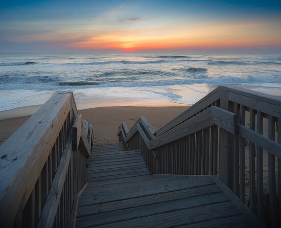 Take a walk on the beach with our own private boardwalk.