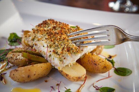 Locally sourced fresh Scottish cod