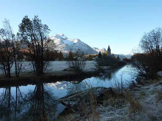 Engadin St. Moritz, Thụy Sỹ: Un'alba nella meravigliosa  Engadina (Grigioni - CH)