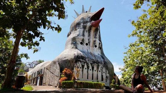 Chicken Church at Karangrejo Village Admission Ticket: Halaman Depan Gedung