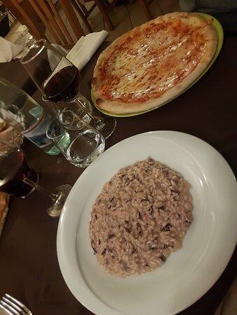risotto e pizza