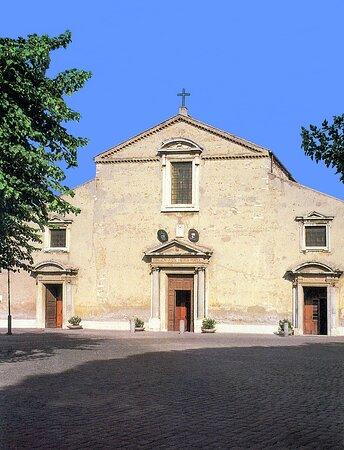 La facciata della Basilica minore di San Pancrazio al Gianicolo