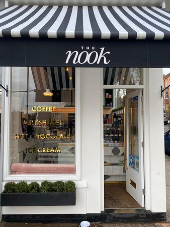 The awning was something we knew we wanted for The Nook from day one. We hope it shelters you in the rain while you are waiting for your coffees and hot chocolates and gives you shade from the sun while you are waiting for your milkshakes and ice cream.
