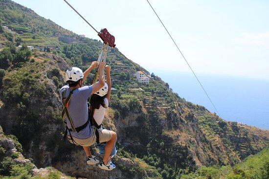 Zipline (volo dell'Angelo tra Furore e Conca dei Marini in Costiera Amalfitana