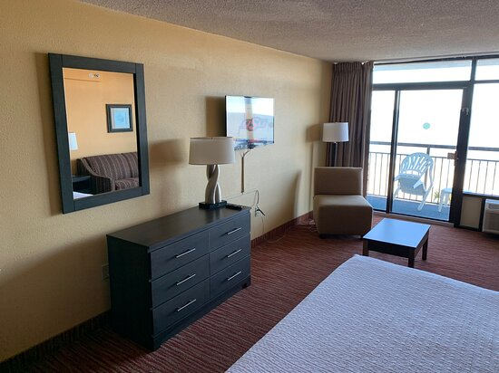 Room 430 Oceanfront King Room Dresser/TV