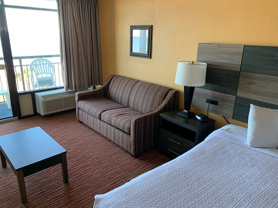 Room 430 Oceanfront King Room Sleeper Sofa and A/C Unit
