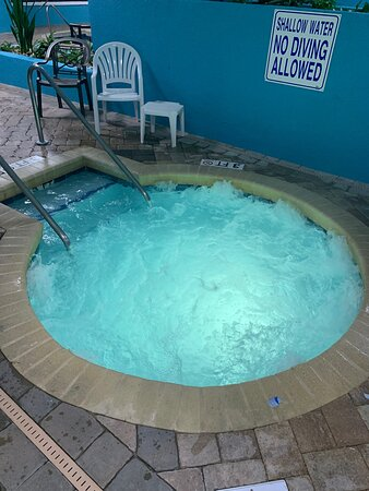 One of the many Hot Tubs (spas) at the Landmark Resort
