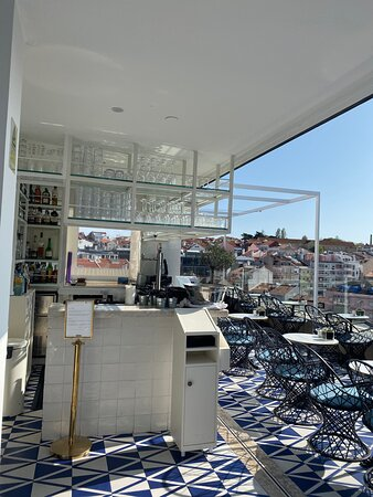 H10 Duque de Louie Hotel in Lisbon, Portugal - The Deck Was Closed For The Entire Stay. Smaller than it looks in the hotel photos.