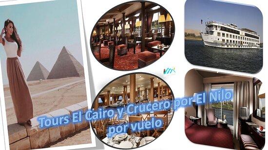 8 dias viajes a Egipto baratos 2x1 El Cairo y Crucero por el Nilo: Te diviertes con All Tours Egypt de Tours El Cairo y Crucero por El Nilo por vuelo y visitas varios lugares turísticos muy famosos en El Cairo, Luxor, Aswan, Edfu y Kom Ombo. En Tours El Cairo y Crucero por El Nilo por vuelo puedes disfrutar de visitar las Pirámides de Guiza, la Esfinge, el Museo Egipcio, la ciudad de Menfis, la Pirámide escalonada de Sakkara, la ciudadela de Saladino y el mercado de Khan El Khalili en El Cairo.
