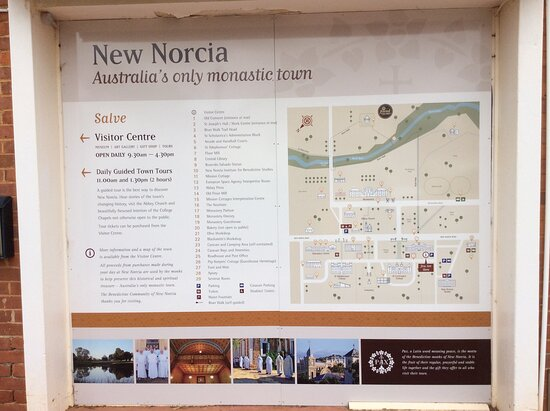 ‪‪New Norcia‬, أستراليا: Sign at Visitor Centre ‬