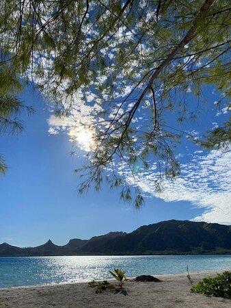 Excursion Motu PISCINE, vue sur l'île principale