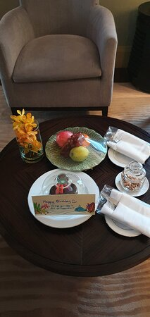 Birthday cake, complimentary by hotel