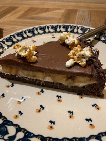 Schokoladen- und Bananenkuchen