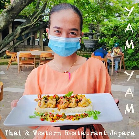 YAM YAM Restaurant Jepara is OPEN again!!! Everyday Full service Nonstop from 8:00-22:00 (last order 21:00)  See you... Kiss(from far away) all YAM YAM staff 😘 #YamYam #RestaurantJepara  #ThaiRestaurantJepara #RestaurantJepara #Jepara #KarimunJawa #EuropeanRestaurantJepara #FreshSeaFood #WesternFood #JeparaExpat #Foodblogger #jeparahits #jeparaculinary #explorejepara #covid_19 #jeparafooddelivery #jeparakekinian #jeparaid #jeparahariini  #jeparamempesona  #jeparasquad