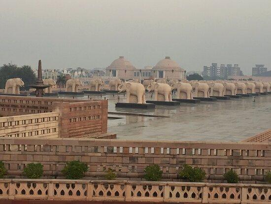 Lucknow, India: Inside view of Ambedkar Memorial Park